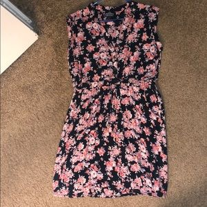 Sleeveless knee length floral dress